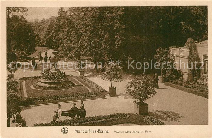 AK / Ansichtskarte Mondorf les Bains Promenades dans le Parc Mondorf les  Bains