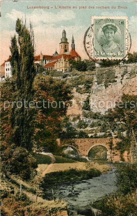 AK / Ansichtskarte Luxembourg_Luxemburg Alzette au Pied des Rochers du Bock Luxembourg Luxemburg