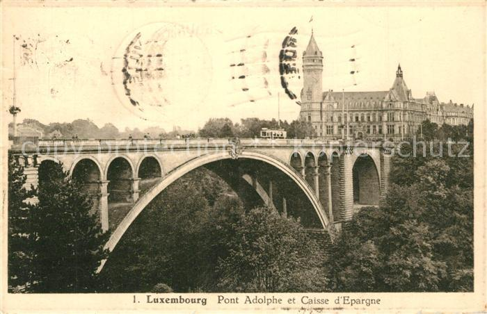 AK / Ansichtskarte Luxembourg_Luxemburg Pont Adolphe et Caisse d`Epargne Luxembourg Luxemburg