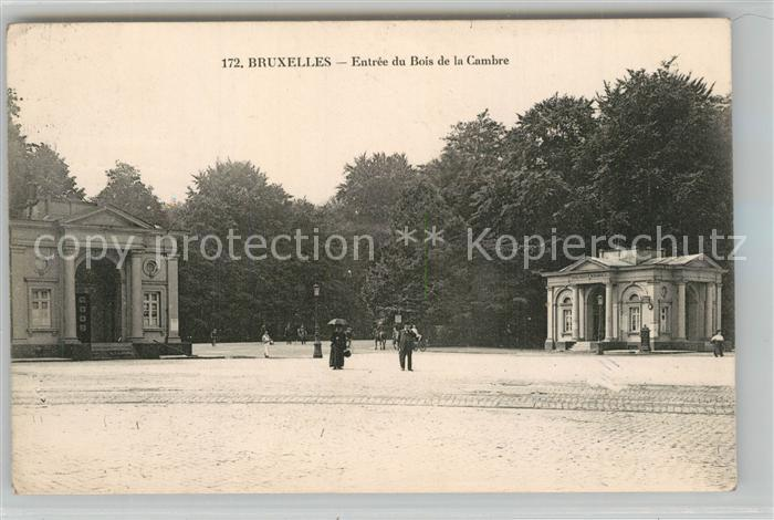 AK / Ansichtskarte Bruxelles_Bruessel Entree du Bois de la Cambre Bruxelles_Bruessel