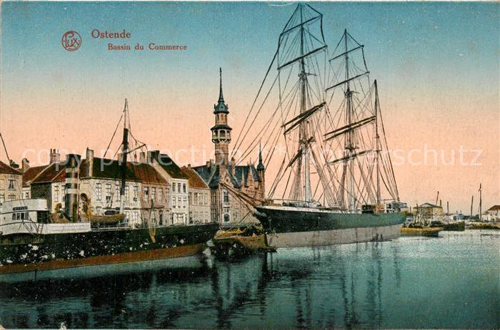 AK / Ansichtskarte Ostende_Oostende Bassin du Commerce Bateaux