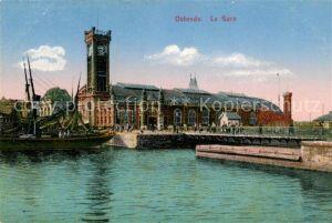 AK / Ansichtskarte Ostende_Oostende La Gare Bahnhof