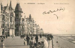 AK / Ansichtskarte Ostende_Oostende La Digue et la plage