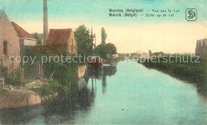 AK / Ansichtskarte Wervicq_West Vlaanderen Vue sur la Lys Wervicq_West Vlaanderen