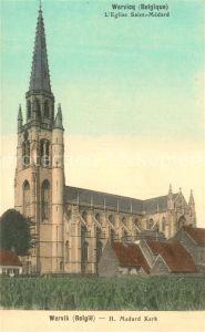 AK / Ansichtskarte Wervicq_West Vlaanderen Eglise Saint Medard Wervicq_West Vlaanderen