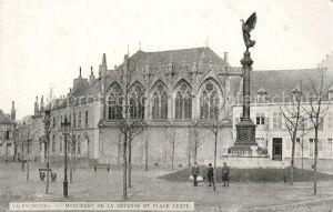 AK / Ansichtskarte Valenciennes Monument de la Defense et Place Verte Valenciennes