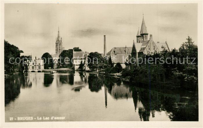 AK / Ansichtskarte Bruges_Flandre Lac d amour Bruges_Flandre