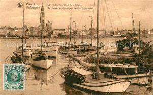 AK / Ansichtskarte Anvers_Antwerpen La Rade vue prise du pilotage Bateaux Anvers Antwerpen