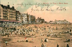 AK / Ansichtskarte Ostende_Oostende La Plage a maree basse