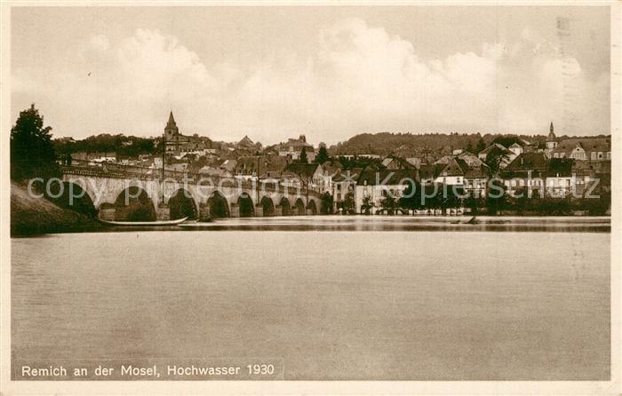 AK / Ansichtskarte Remich Moselpartie bei Hochwasser 1930 Remich