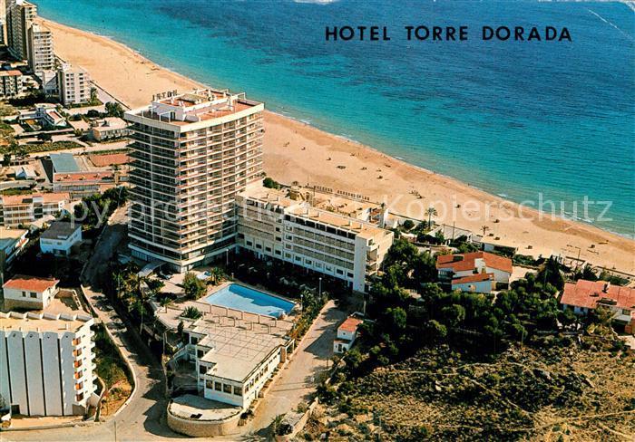 AK / Ansichtskarte Benidorm Hotel Torre Dorada Fliegeraufnahme Benidorm