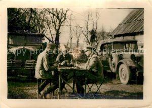 AK / Ansichtskarte Berdytschiw_Oblast Schytomyr Soldaten beim Kartenspielen