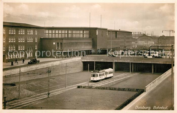 AK / Ansichtskarte Duisburg_Ruhr Bahnhof Duisburg Ruhr 0