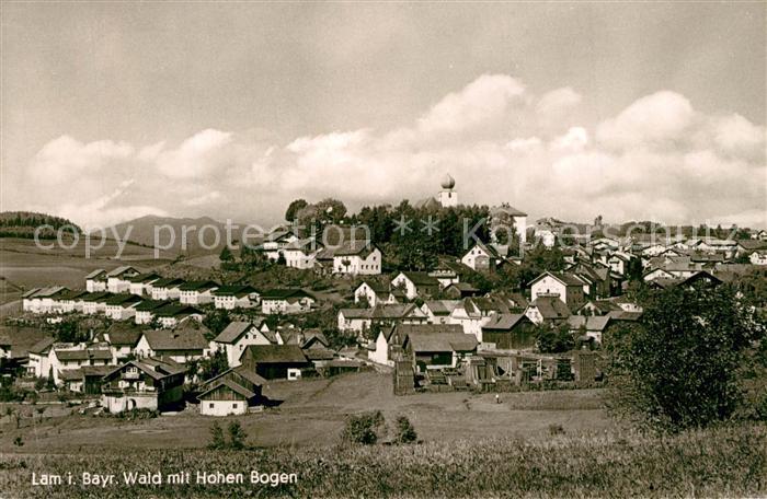AK / Ansichtskarte Lam_Oberpfalz mit Hohen Bogen Lam_Oberpfalz