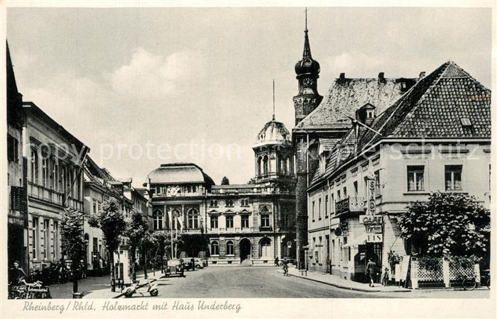 AK / Ansichtskarte Rheinberg_Nordrhein Westfalen Holzmarkt mit Haus Underberg Rheinberg 0