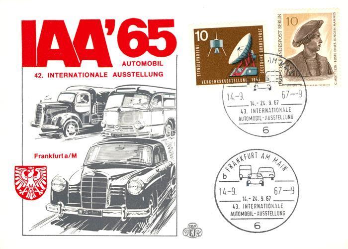 AK / Ansichtskarte Frankfurt_Main IAA Internationale Automobilausstellung 1965 Frankfurt Main 0