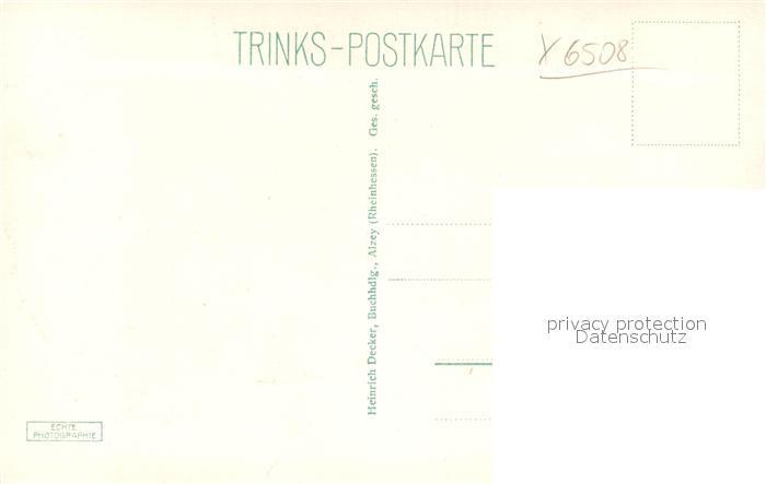 AK / Ansichtskarte Alzey Schloss Trinks Postkarte Alzey 1