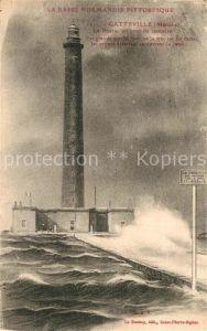 AK / Ansichtskarte Gatteville le Phare Leuchtturm im Sturm Gatteville le Phare