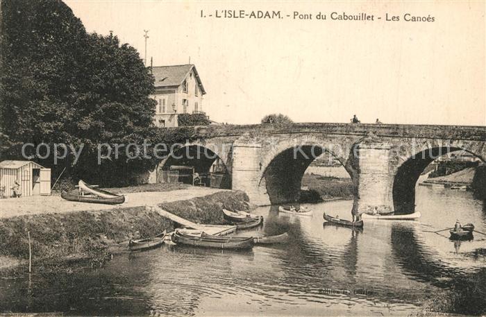 AK / Ansichtskarte L_Isle Adam Pont du Cabouillet Ruderboote L_Isle Adam 0