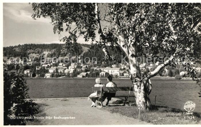 AK / Ansichtskarte oestersund Badhusparken oestersund