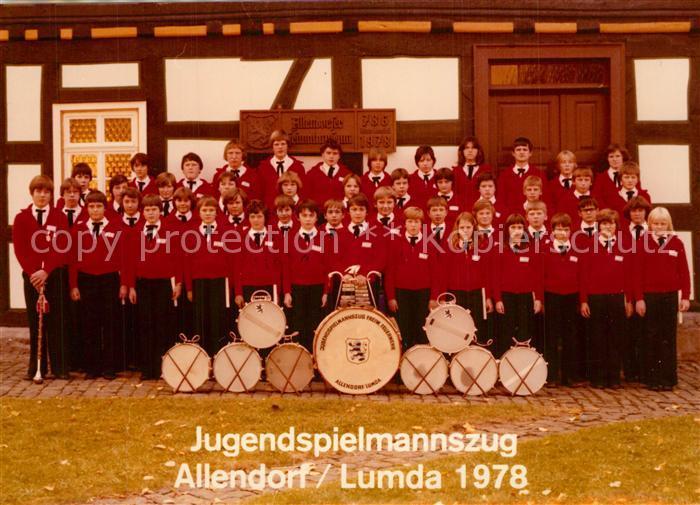 AK / Ansichtskarte Lumda Jugendspielmannszug Allendorf Lumda 1978 Lumda 0