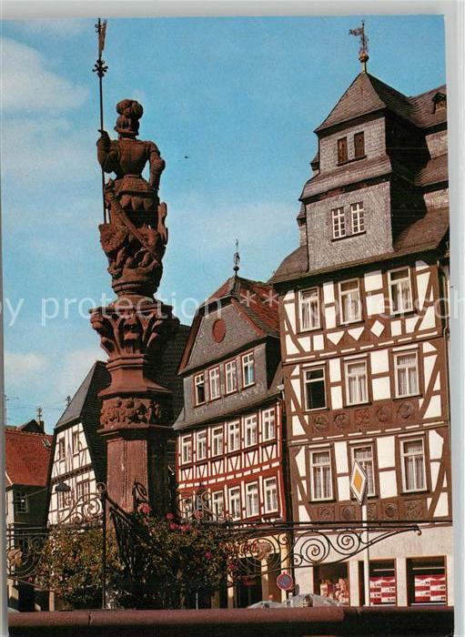 AK / Ansichtskarte Butzbach Fachwerkhaeuser Marktplatz Butzbach