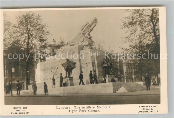 AK / Ansichtskarte London Artillery Memorial London 0