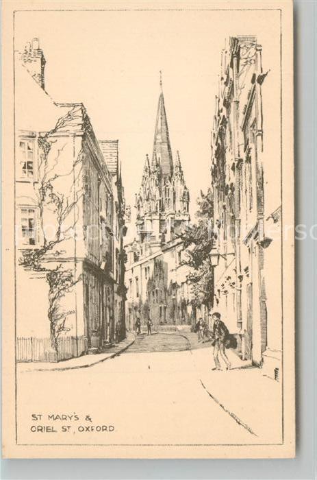 AK / Ansichtskarte Oxford_Oxfordshire St Mary oriel Kuenstlerkarte Oxford Oxfordshire 0