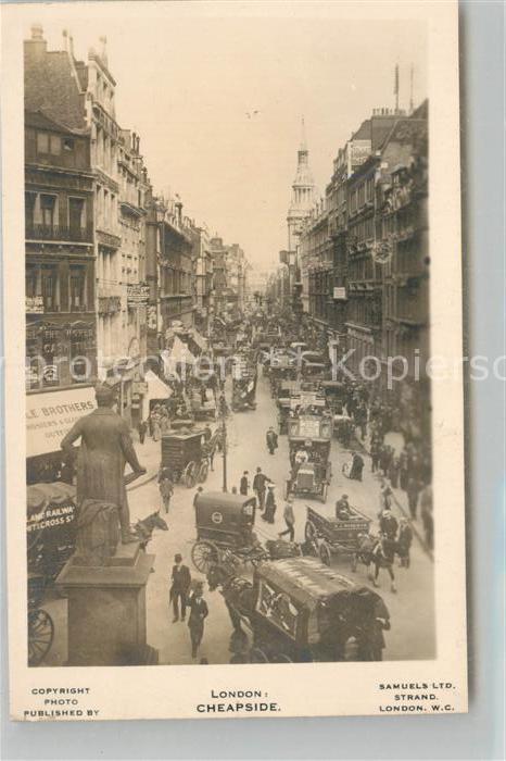 AK / Ansichtskarte London Cheapside London