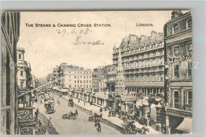 AK / Ansichtskarte London Strand Charing Cross Station London