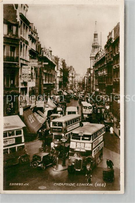 AK / Ansichtskarte London Cheapside London 0