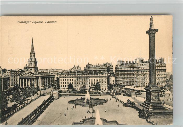 AK / Ansichtskarte London Trafalger Square London 0