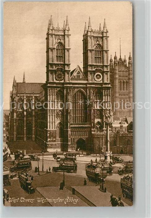 AK / Ansichtskarte London Westminster Abbey West Tower London 0