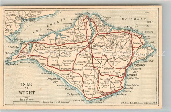 AK / Ansichtskarte Isle_of_Wight_UK Strassenkarte 1936 Isle_of_Wight_UK