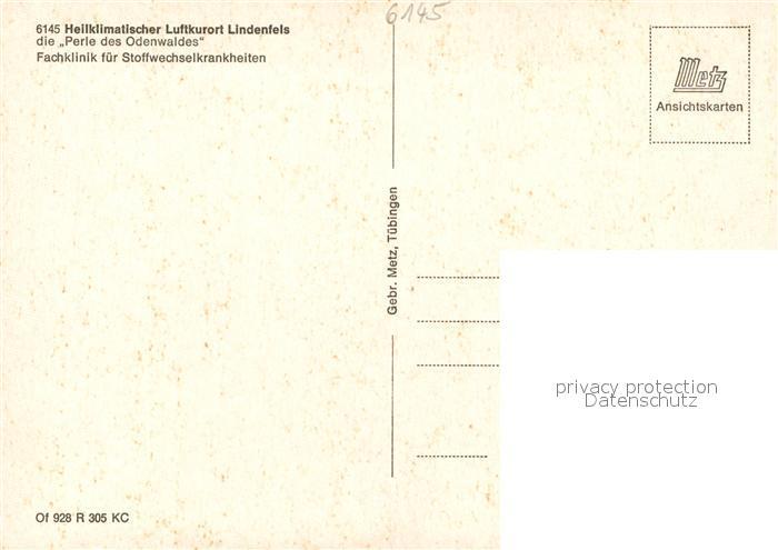 AK / Ansichtskarte Lindenfels_Odenwald Fachklinik Stoffwechselkrankheiten Lindenfels Odenwald 1