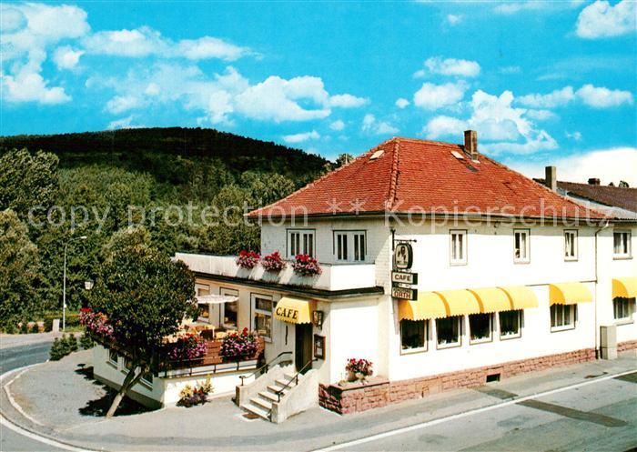 AK / Ansichtskarte Zell_Odenwald Cafe Konditorei Orth Zell Odenwald 0