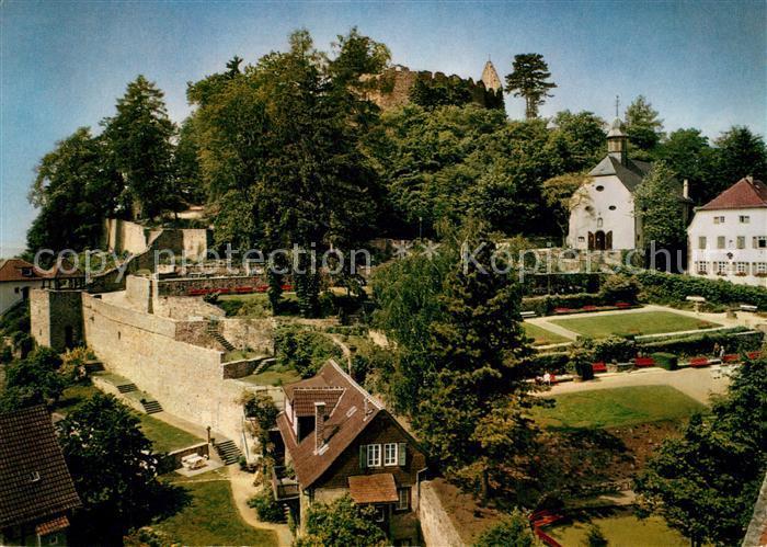 AK / Ansichtskarte Lindenfels_Odenwald Kurgarten Burgruine Lindenfels Odenwald 0