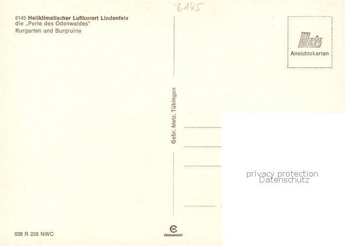 AK / Ansichtskarte Lindenfels_Odenwald Kurgarten Burgruine Lindenfels Odenwald 1