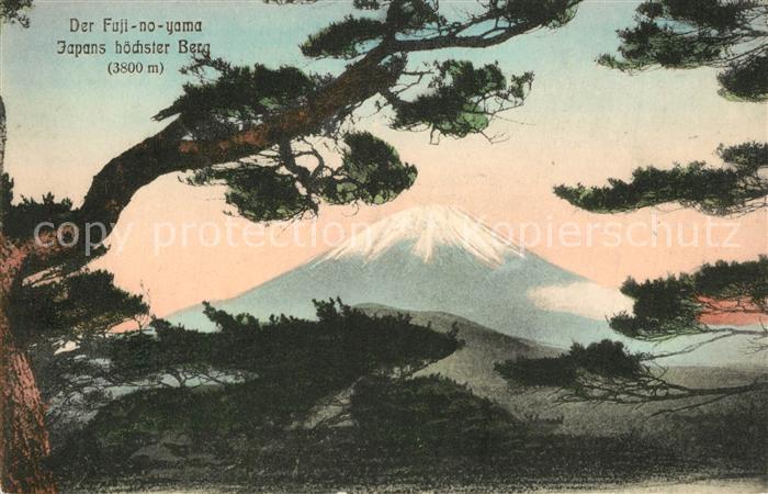 AK / Ansichtskarte Honshu Fuji no yama Vulkan Japans hoechster Berg Honshu