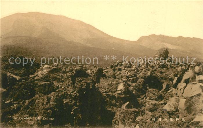 AK / Ansichtskarte Honshu Lavabeds Mount Asama Vulkanische Landschaft Honshu