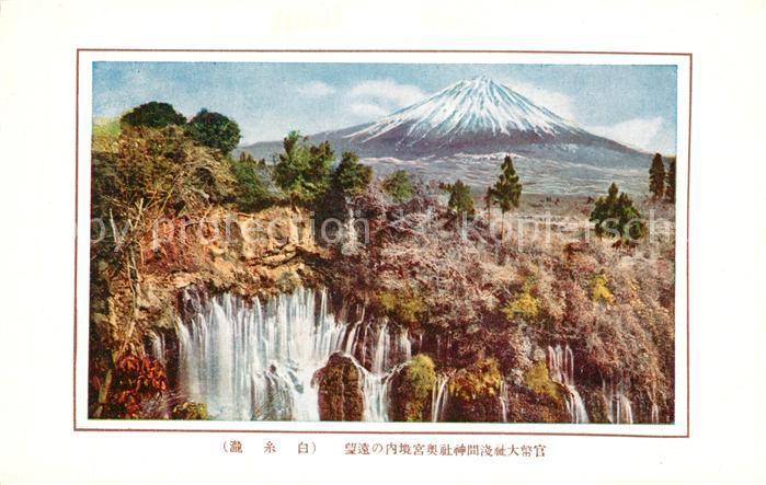 AK / Ansichtskarte Honshu Landschaftspanorama Wasserfall Fuji Vulkan Honshu 0
