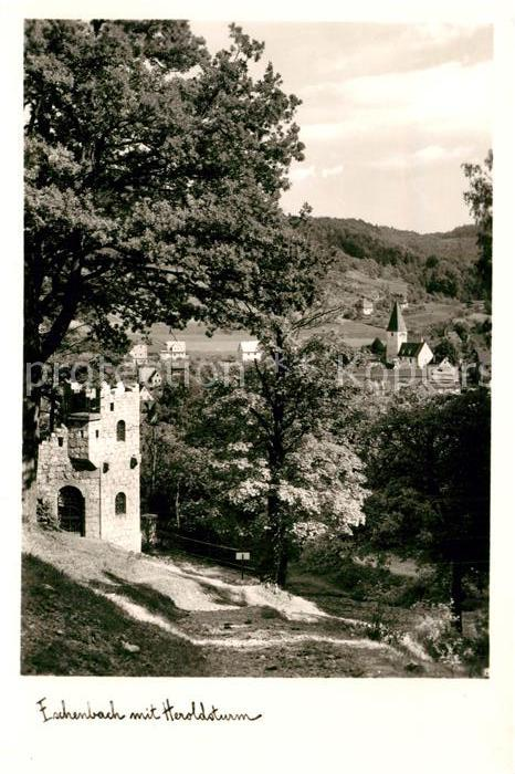 AK / Ansichtskarte Eschenbach_Mittelfranken mit Heroldsturm Eschenbach Mittelfranken