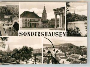 AK / Ansichtskarte Sondershausen_Thueringen Teilansicht Markt Rathaus Schloss Teilansicht Hainleite Sondershausen Thueringen