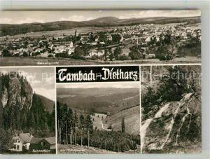 AK / Ansichtskarte Tambach Dietharz Panorama Falkenstein Mittelwasser Spitterfall Tambach Dietharz