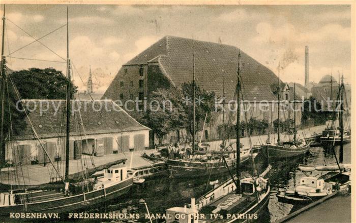 AK / Ansichtskarte Kobenhavn Frederiksholms Kanal  Kobenhavn