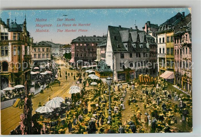 AK / Ansichtskarte Mayence Place du Marche Marktplatz Mayence