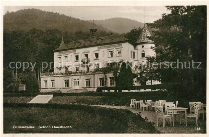 AK / Ansichtskarte Badenweiler Schloss Hausbaden Badenweiler