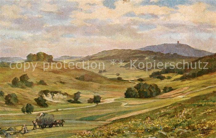 AK / Ansichtskarte Schwaebische_Alb Panorama Schwaebische Alb