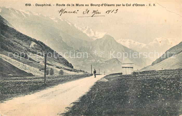 AK / Ansichtskarte Dauphine Route de la Mure au Bourg d'Oisans par le Col d Ornon Dauphine