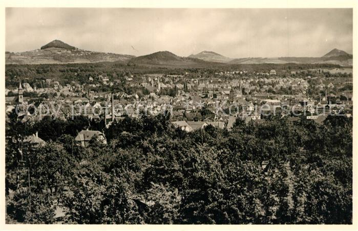AK / Ansichtskarte Goeppingen Stadtpanorama mit Hohenstaufen und Hohenrechberg und Stuifen Goeppingen